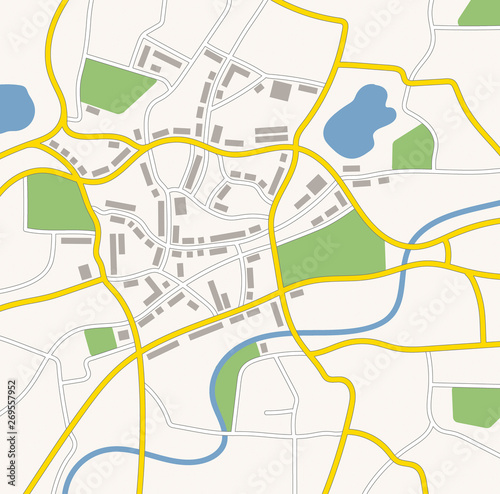 A generic city map illustration