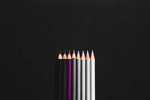 Pencil Of Shades Of Grey And O...