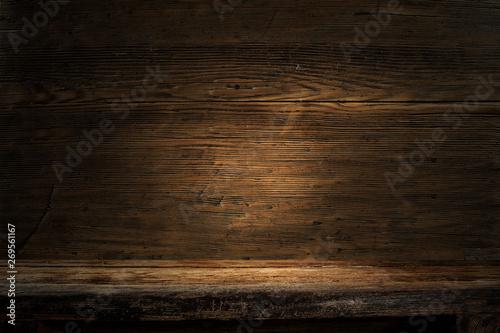 Fotobehang Vissen Dark wooden background of free space for your decoration