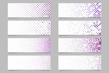 Modern Abstract Dot Pattern Banner Background Template Set