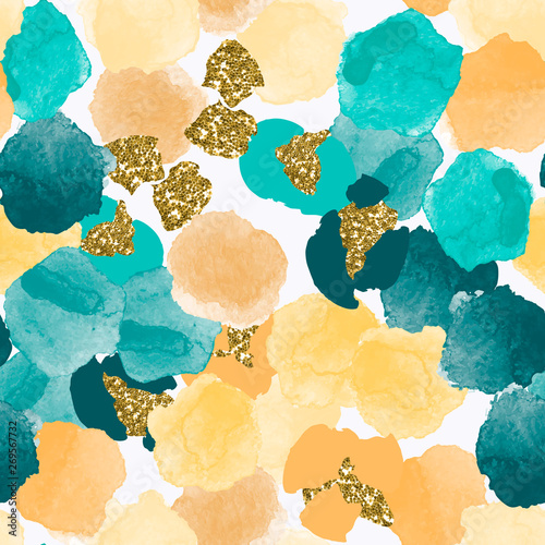 color-abstract-diverse-seamless-pattern-with-colorful-watercolor-and-gold-glitter-shapes