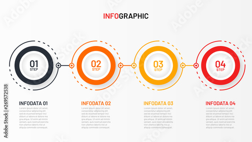 Photo  Timeline infographic design vector and number options