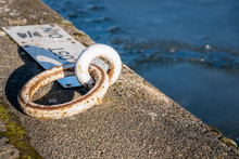 Close Up Of A Mooring Ring On ...