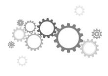 Gray Gear Wheels Vector Background