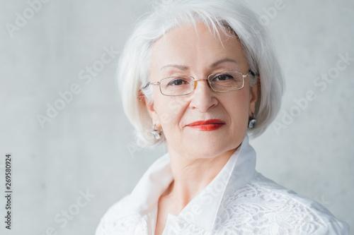 Arrogant senior lady portrait Canvas-taulu