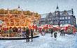 canvas print picture - Weihnachtsmarkt in Düsseldorf ; Deutschland
