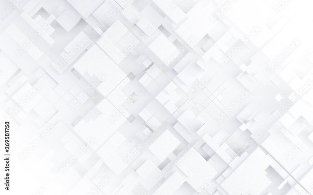 Fondo abstracto de tecnología.Cubos y formas geométricas