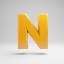 Glossy Yellow Uppercase Letter...