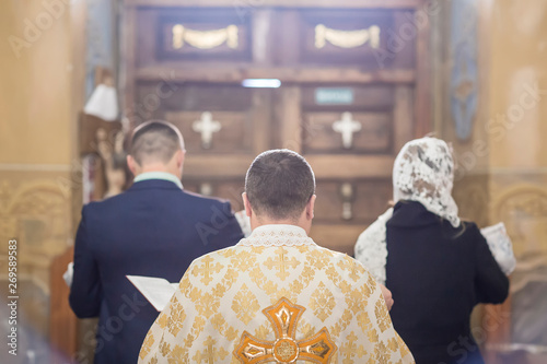 baby preparing for a baptismal ceremony, The sacrament of baptism Fototapet