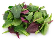 Fresh Mixed Salad On White Background