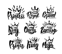 Crown Logo With Hand Text Lett...
