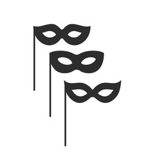 Black Mask Vector Icons