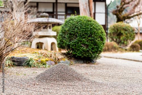Keuken foto achterwand Stenen in het Zand Takayama, Japan Higashiyama Zennoji temple on walking course in historical city in Gifu Prefecture with rock garden