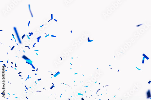 Confetti from crackers Canvas Print