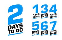 Number Of Days Left. Set Of Ve...