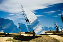 Solar Panels On Power Station