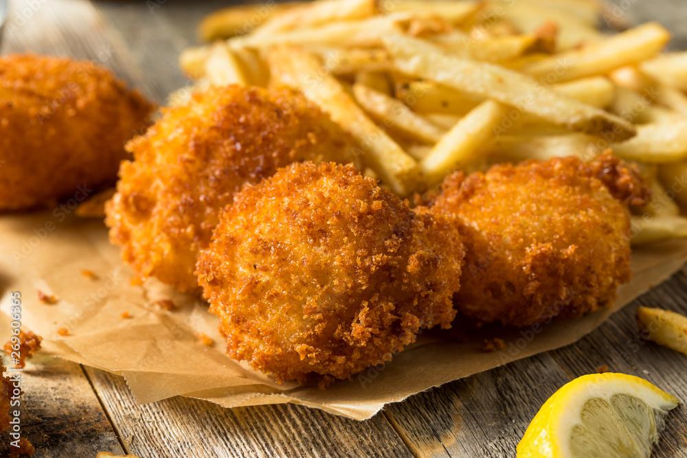 Fototapety, obrazy: Homemade Deep Fried Scallops