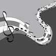 Music notes/ Vector illustration of music notes on grey background