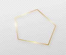 Golden Border Frame With Light...