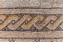 Floor Mosaic Of The Fifth Century AD In The Church Of The Multiplication Of The Loaves And Fishes, Tabgha, Israel