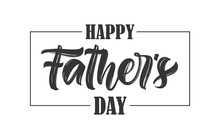 Calligraphic Type Lettering Composition Of Happy Father's Day On White Background.