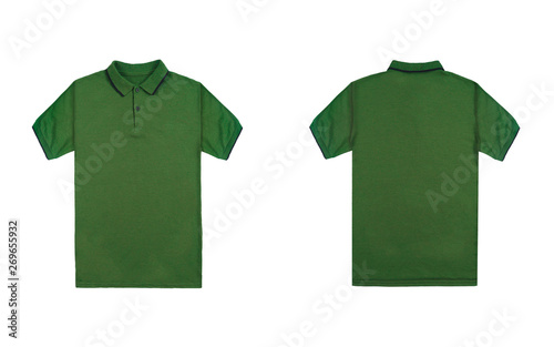 Blank Plain Polo Shirt Green Color With Black Stripe