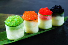 Red And Tobiko Caviar Topped S...