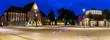canvas print picture - Marktplatz mit Markthalle