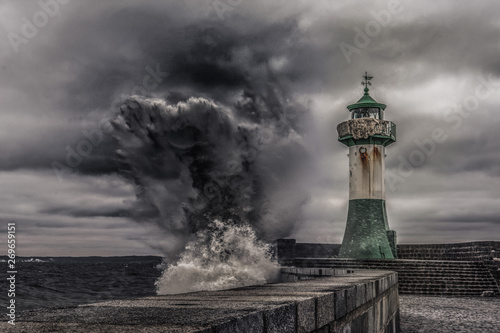 Photo sur Toile Phare Sturm