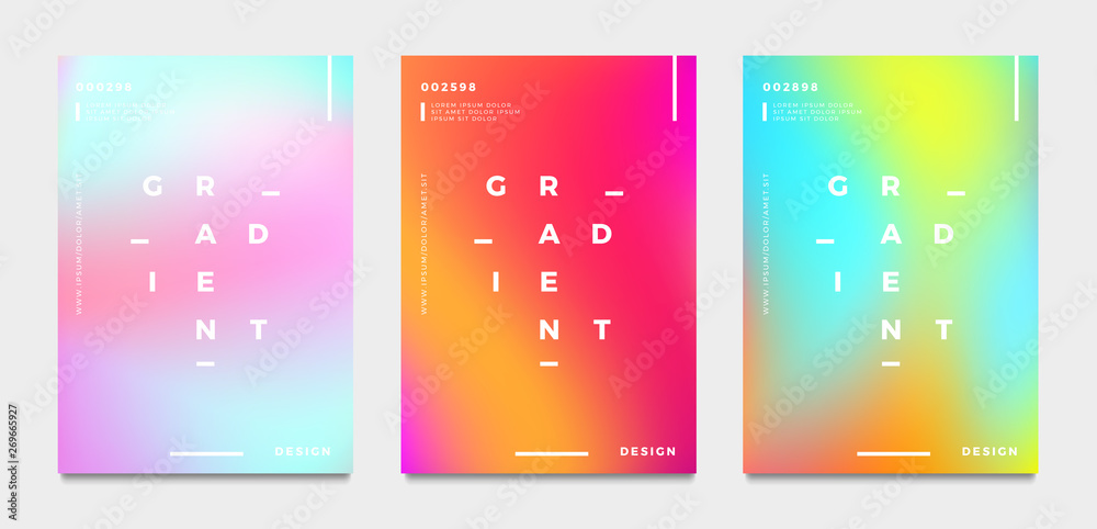 Fototapety, obrazy: Abstract gradient poster and cover design. Vector illustration.