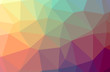 Illustration of abstract Green, Orange, Yellow horizontal low poly background. Beautiful polygon design pattern.
