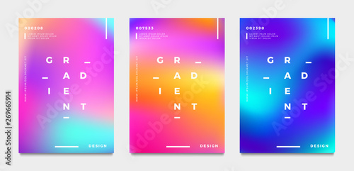 Obraz Abstract gradient poster and cover design. Vector illustration. - fototapety do salonu