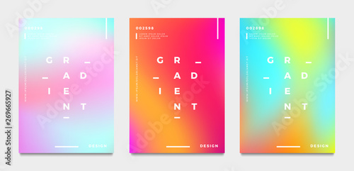 Abstract gradient poster and cover design. Vector illustration. Canvas Print