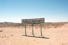 A Sign In The Desert In Kenya