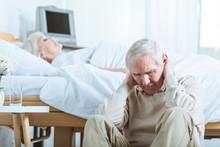 Sad Senior Man And Senior Woma...