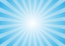 Sun Rays Vector. Abstract Blue Sun Rays Background