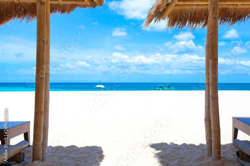 Vacation Holidays Background Wallpaper Beach Loungers