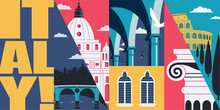 Italy Vector Skyline Illustrat...