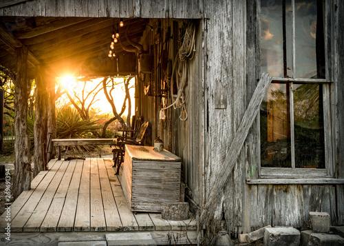 Cowboy Porch Sunrise