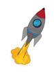 gemusterte Rakete beim Start