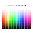 Colorful palette. Set of bright colors of rainbow palette. Full spectrum of colors. Vector illustration isolated on white background