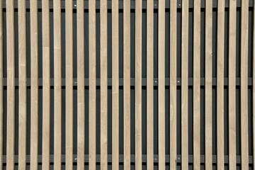 Holzverkleidung an einem modernen Haus, moderne Hausfassade aus Holz
