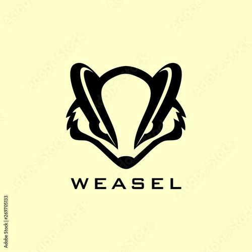 Canvas Print weasel inspiration logo design