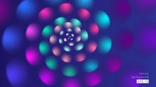 Abstract Background Spiral Flower Petals Pink Blue Gradient