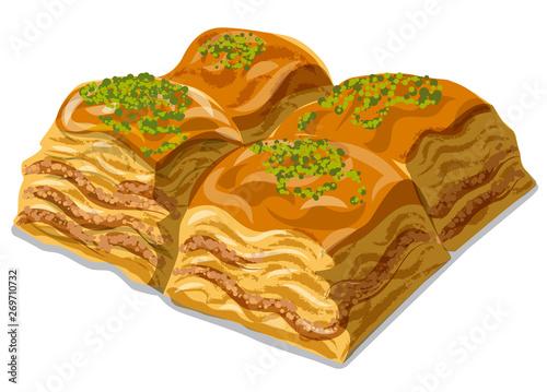 sweet dessert baklava Wallpaper Mural
