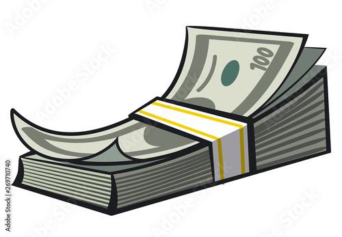 Cuadros en Lienzo cash money stack