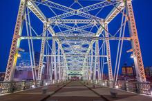 Pedestrian Bridge In Downtown Nashville Tennessee