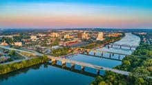 Augusta, Georgia, USA Downtown Skyline Aerial