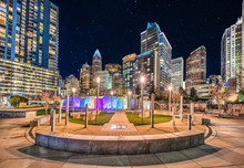 Downtown Park In Charlotte, North Carolina, USA