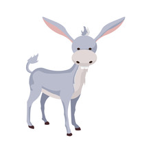 Donkey Donkey Cartoon Vector D...